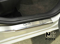 Накладки на пороги Premium Citroen C-Crosser 2007-