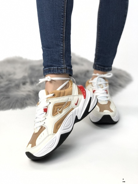 Женские кроссовки Nike M2K TEKNO из натуральной кожи