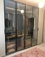 Шкаф Гардеробная комната на заказ с фасадами стекло