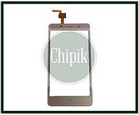 Сенсорный экран (тачскрин) для телефона Assistant AS-5433, Leagoo M5, Bravis A504, Bravis X500, S-TELL M511, золотой