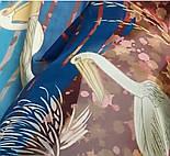Палантин шелковый 10722-12, павлопосадский палантин шелковый шифоновый, размер 85х200, фото 8