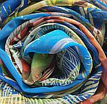 Палантин шелковый 10722-12, павлопосадский палантин шелковый шифоновый, размер 85х200, фото 7