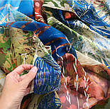 Палантин шелковый 10722-12, павлопосадский палантин шелковый шифоновый, размер 85х200, фото 6