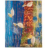 Палантин шелковый 10722-12, павлопосадский палантин шелковый шифоновый, размер 85х200, фото 10