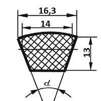 Ремень  SPB-1500