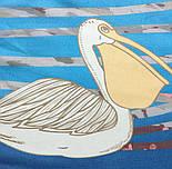 Палантин шелковый 10722-12, павлопосадский палантин шелковый шифоновый, размер 85х200, фото 5