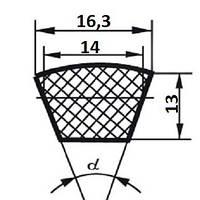 Ремень  SPB-1600