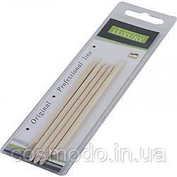 Апельсиновые палочки для маникюра, 5 шт, 11 см, Luxury W-01