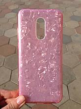 Чехол Xiaomi Redmi 5 Plus Pink Broken Glass
