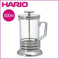 HARIO френч-пресс для кофе и чая 600 мл нержавеющая сталь, стекло THJ-4-HSV