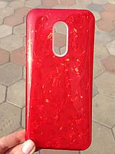 Чехол Xiaomi Redmi 5 Plus Red Broken Glass