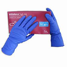 Нестерильные перчатки, медицинские, неопудренные Ambulance PF, размер — M, уп. — 25 пар