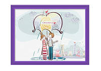 Картина по номерам Роспись на холсте Под зонтом  ME002 40 х 30 см