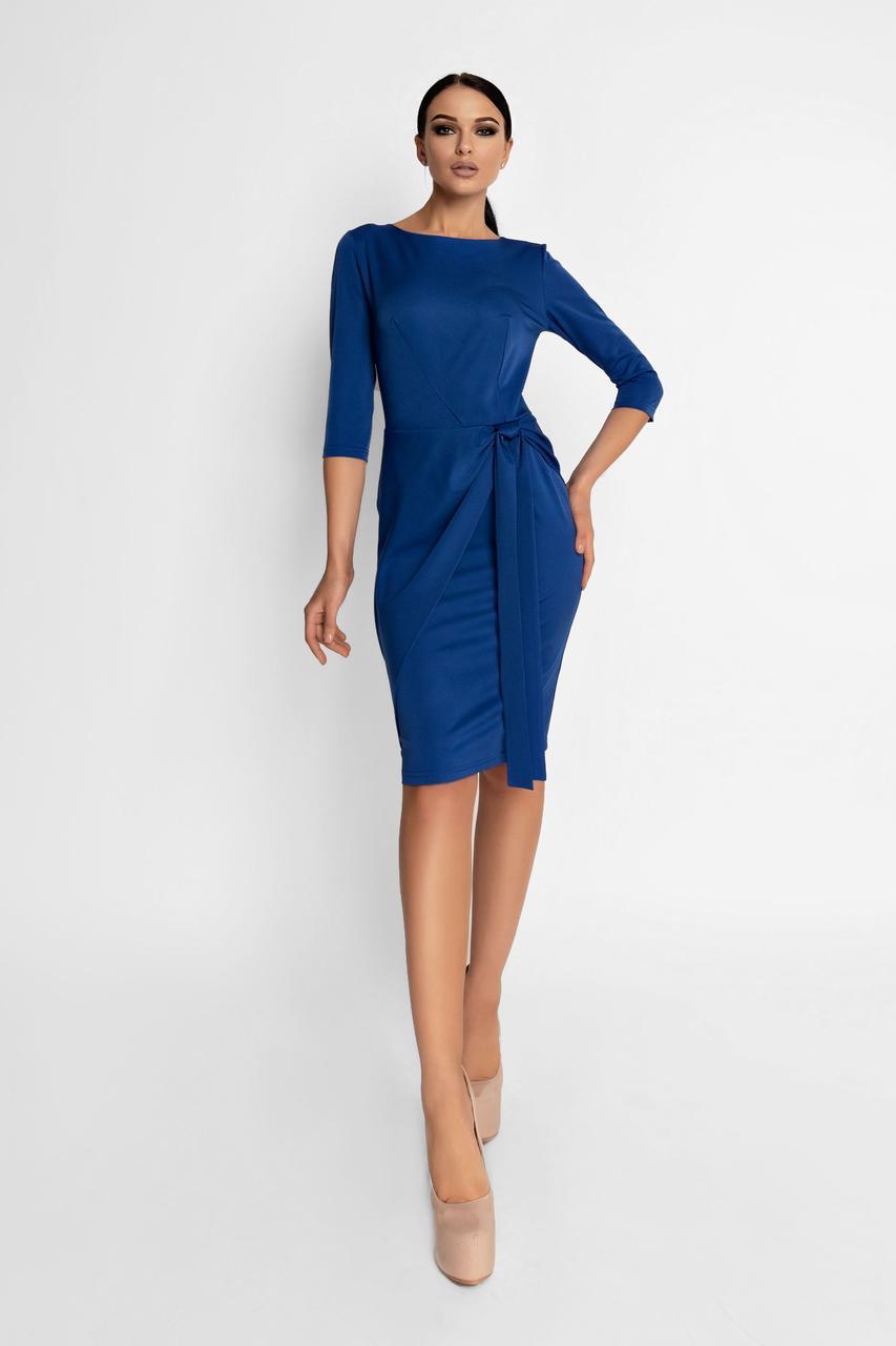 Женское элегантное платье, электрик, облегающее, приталенное, молодёжное, нарядное, офисное, классическое