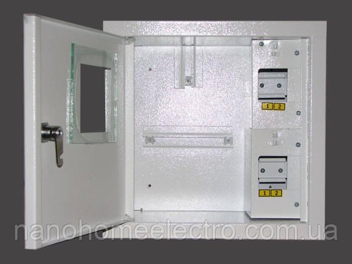 Накладной металический шкаф для 1 фазного счетчика 4 автомата