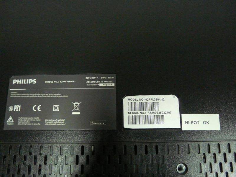 Запчасти к телевизору Philips 42PFL3604 12 (разбита матрица) (6870C-0243C, LC470WUN-SBA1)