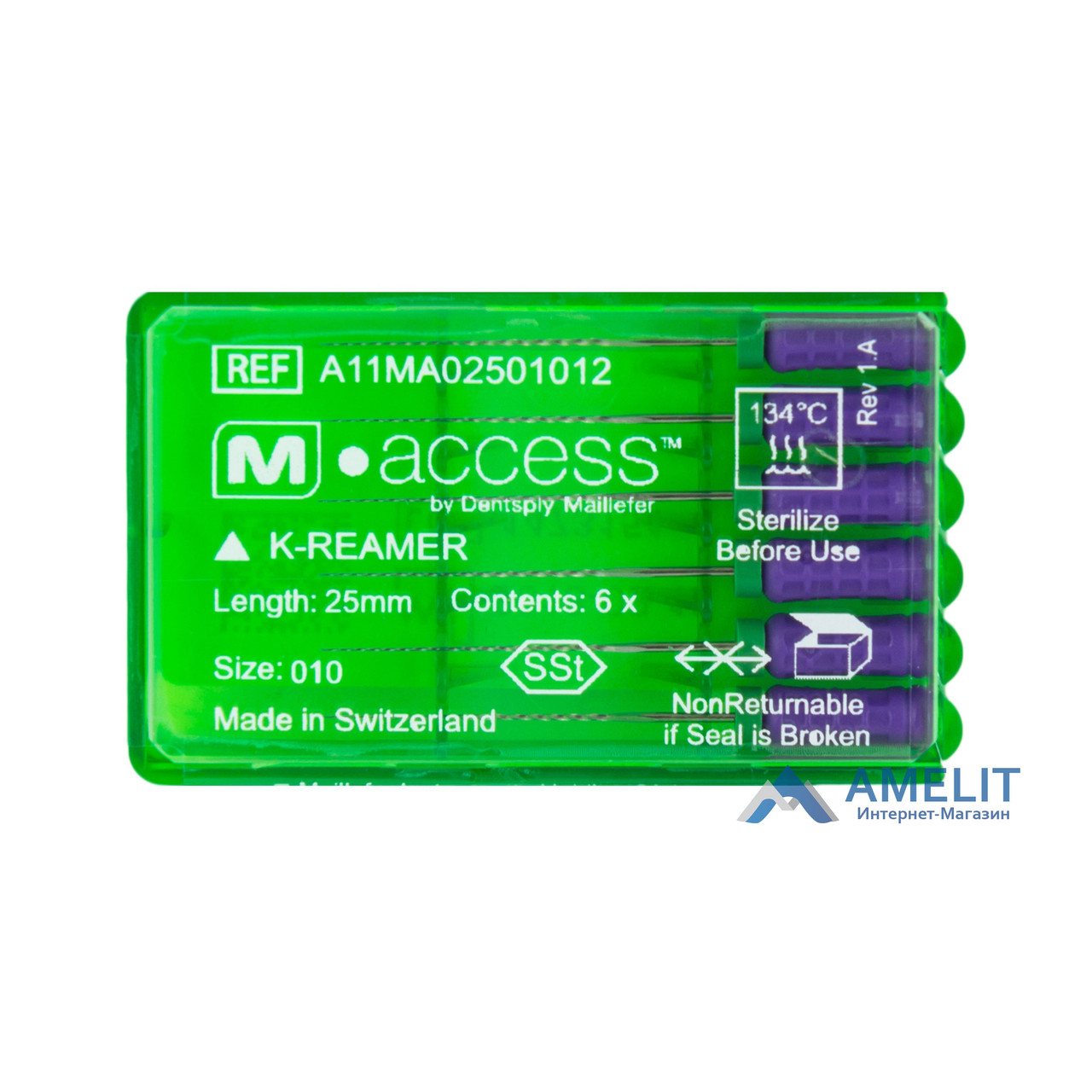 К-Римеры M Access (K-Reamers M-Access, Dentsply Maillefer), 6шт./уп.