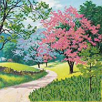 """Схема для вышивки бисером на натуральном холсте """"Цветущий парк"""" AC-418"""