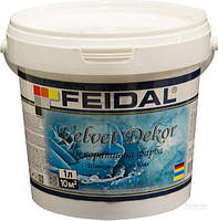 Декоративная краска Feidal Velvet Dekor матовий перламутровый 1 л