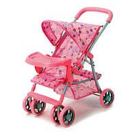 Прогулочная коляска для кукол 9304 BWT металл, столик