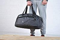 Спортивная дорожная сумка NIKE с ремнем на плечо, цвет серый