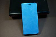 Чехол книжка для Samsung Galaxy J6+J610 Plus Самсунг синий Soft-touch