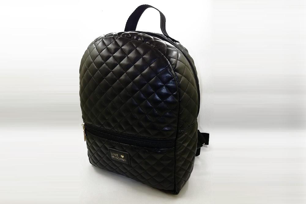 dc70215c8740 Стёганый женский рюкзак LOVE MOSCHINO, стильный портфель МОСКИНО, цвет  черный - granat24.com