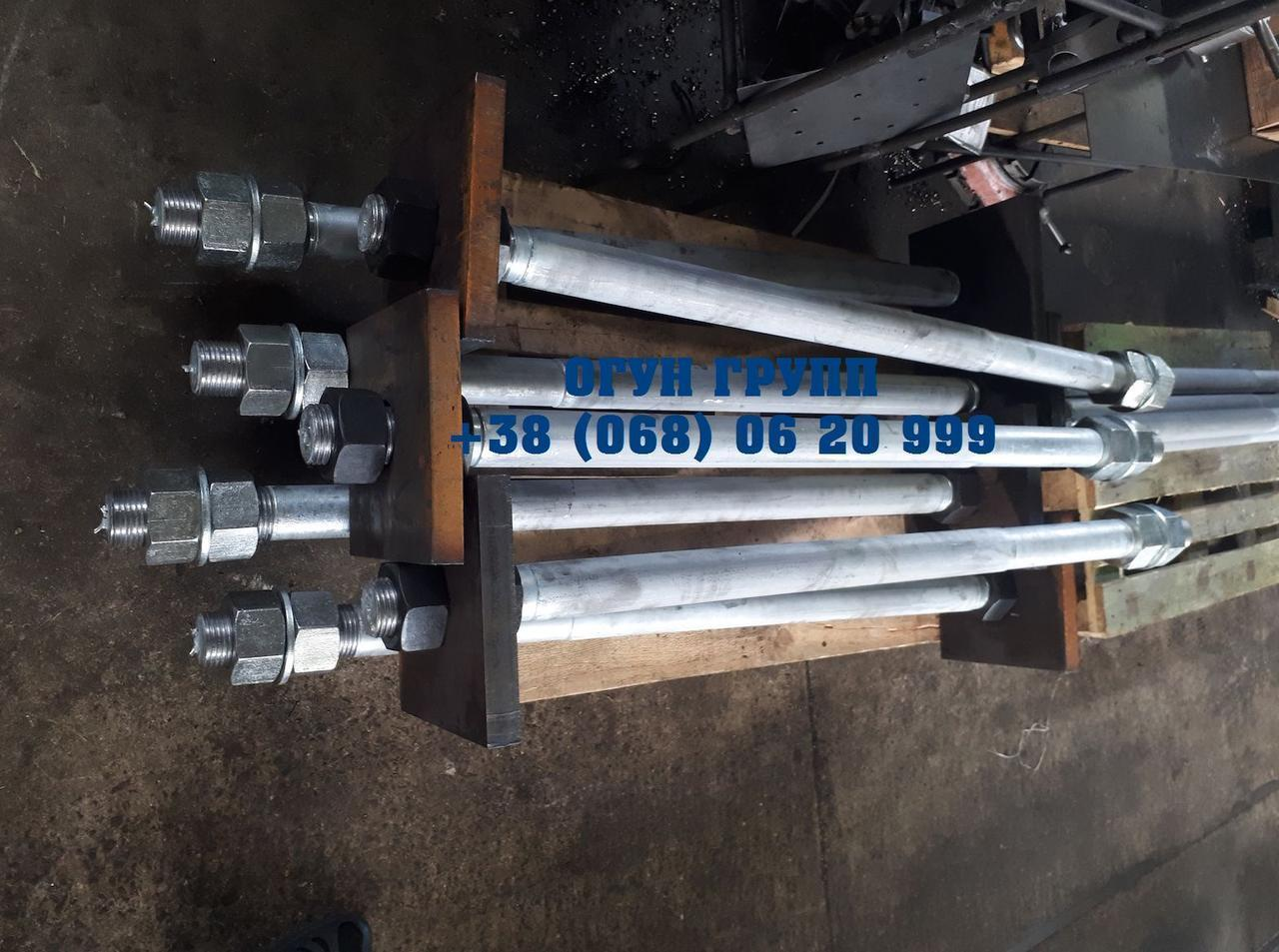 Болт фундаментный М72 тип 2 с анкерной плитой ГОСТ 24379.1-80