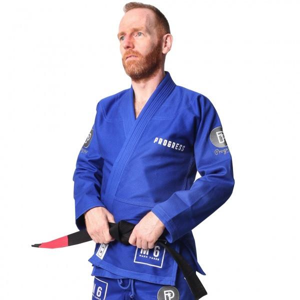 Кимоно для Бразильского Джиу-Джитсу Progress M6 Синее