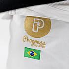 Кімоно для Бразильського Джиу-Джитсу Progress Gold Label Brazil Біле, фото 3