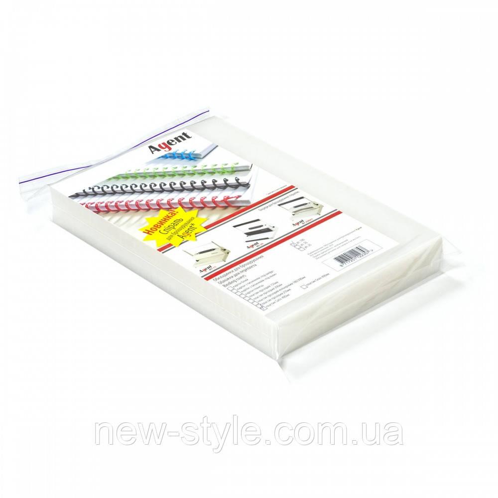 Oбложки пластиковые прозрачные Agent Satin 400мкм 100шт