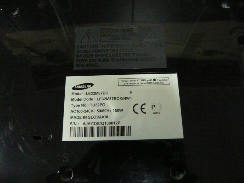 Запчасти телевизор Samsung LE32M87BD с разбитой матрицей.