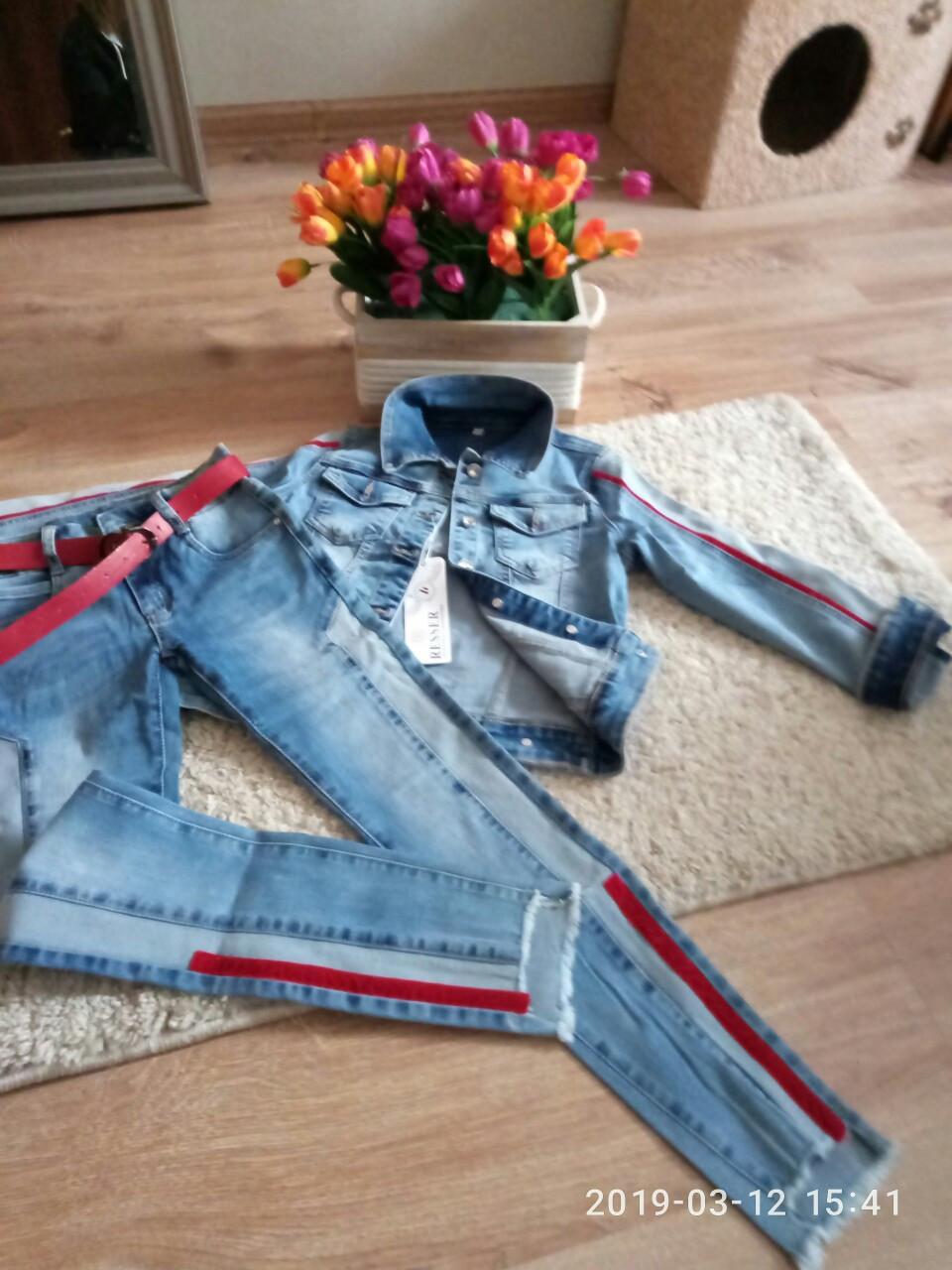 Стильный джинсовый костюм для девочек 8-13 лет