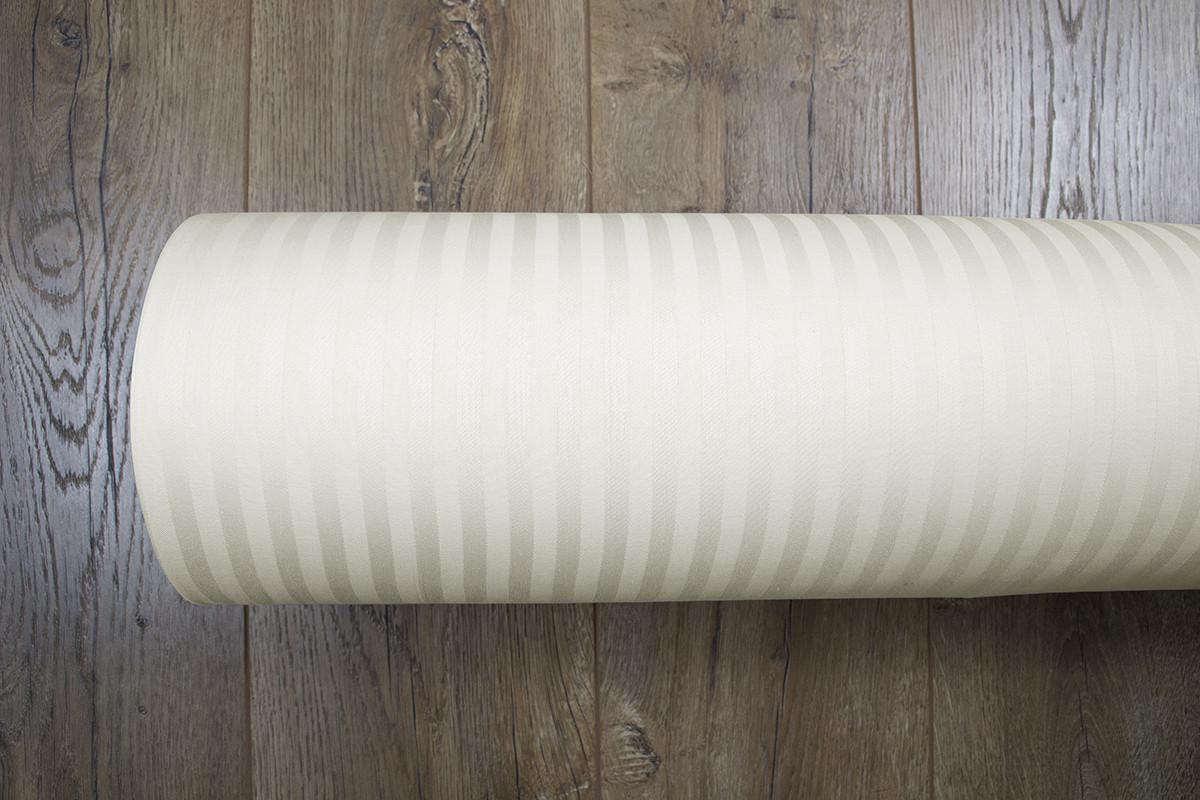 Ткань Турция сатин страйп 1*1 ваниль 240 ширина