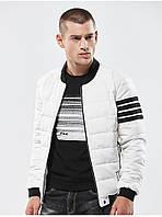 Куртка бомбер мужская осень бренд City Channel (Канада) размер 46 белая 03006/032, фото 1