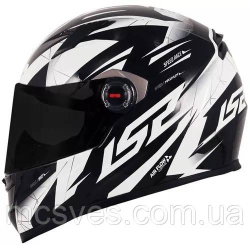 LS2 - Шлем закрытый DRAZE FF358 XL - ЧЕРНЫЙ с рисунком белым