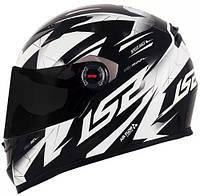 LS2 - Шлем закрытый DRAZE FF358 XL - ЧЕРНЫЙ с рисунком белым, фото 1