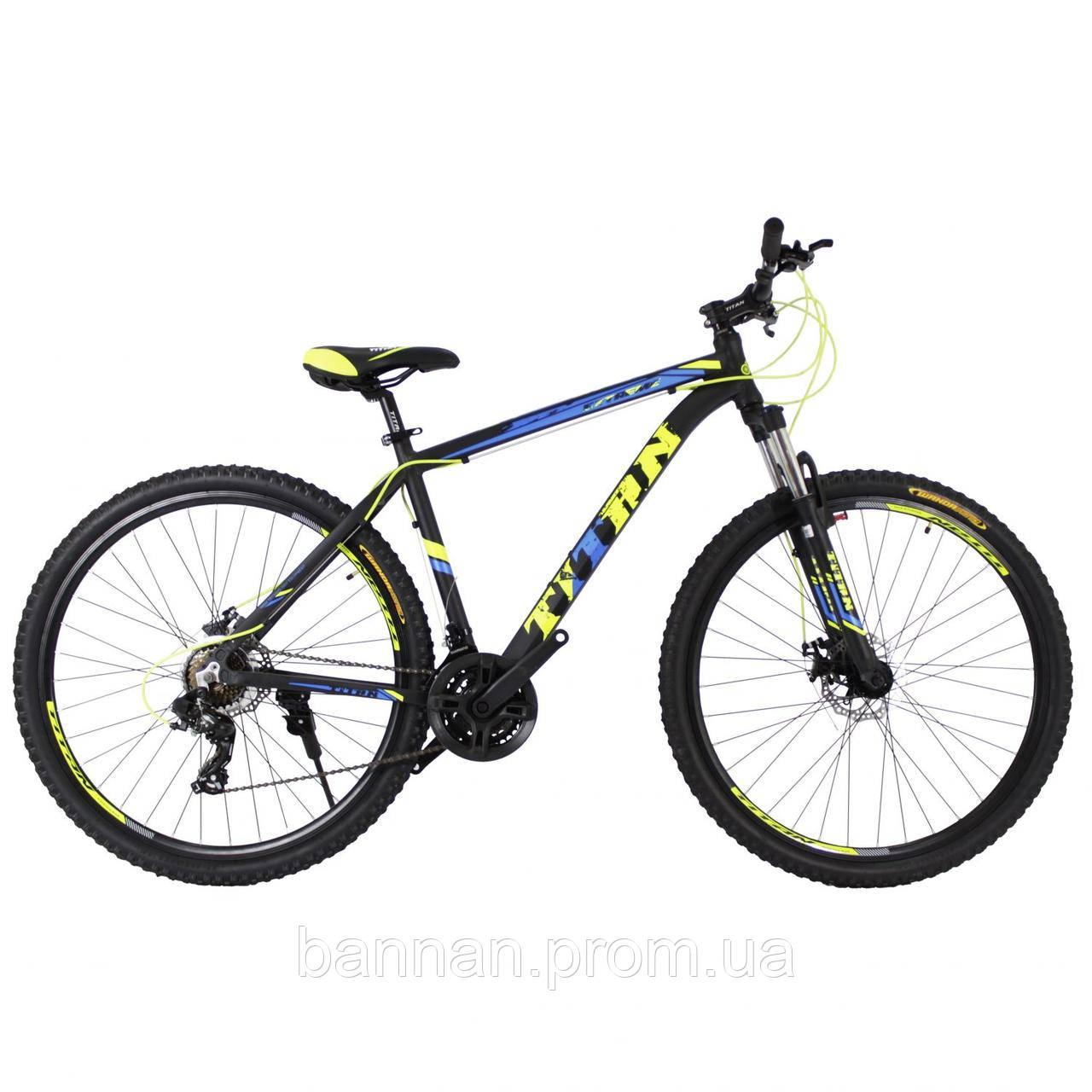 """Велосипед Titan Extreme (2019)(26"""") Рама 17"""" 26"""", 17"""", black-orange-blue"""