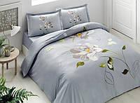 Двуспальное евро постельное белье TAC Palau turkuaz Сатин