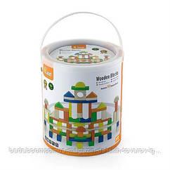 Набор строительных блоков Viga Toys 100 шт., 2,5 см (50334)