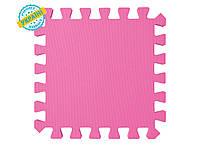 """Мягкий пол (коврик-пазл 30*30*1 см) Eva-Line """"Веселка"""" розовый"""
