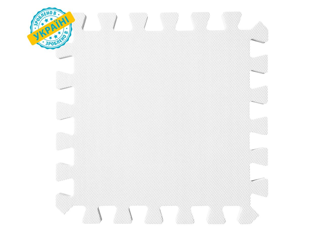 """М'яка підлога (килимок-пазл 30*30*1 см) Eva-Line """"Веселка"""" білий"""