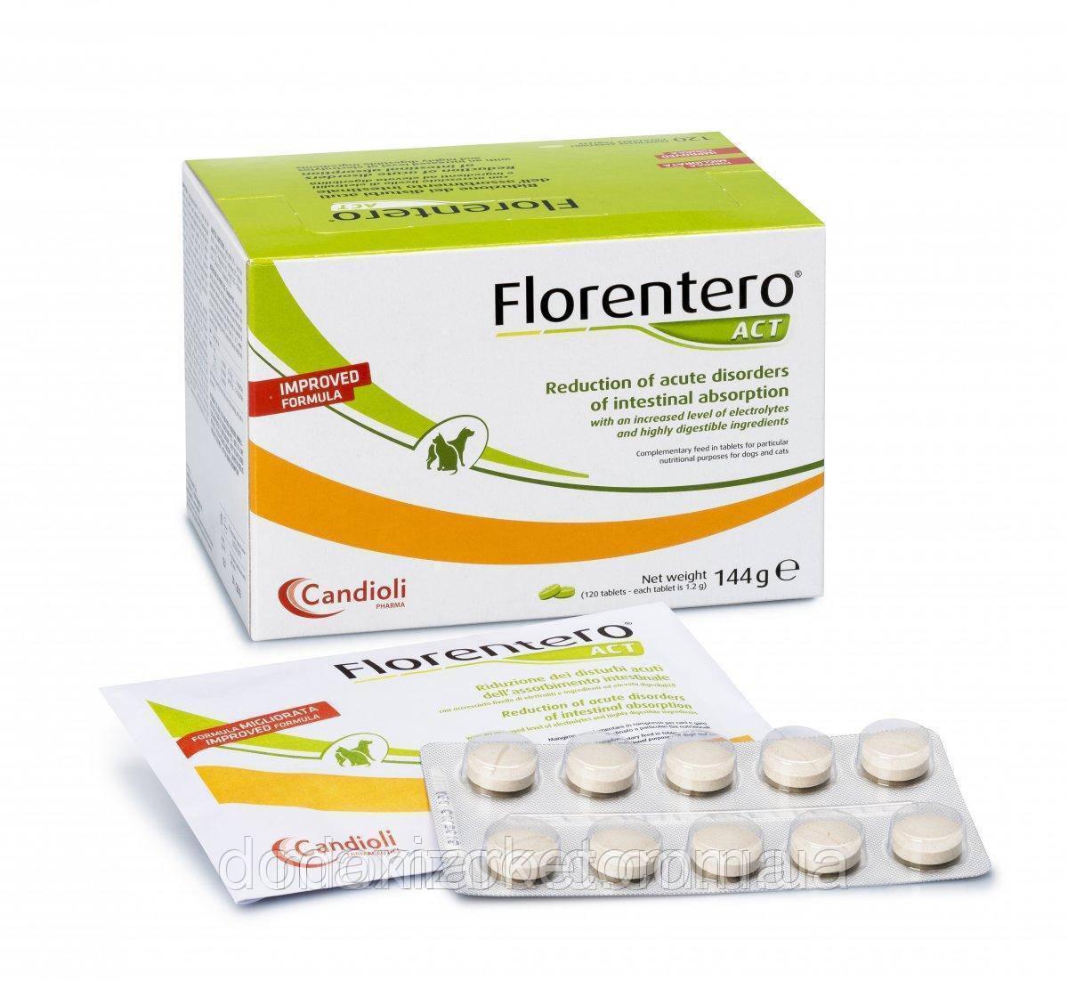 Таблетки Candioli Florentero ACT (10 шт) для нормализации работы желудочно-кишечного тракта животных