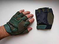 Перчатки Механикс - беспалые - реплика - олива