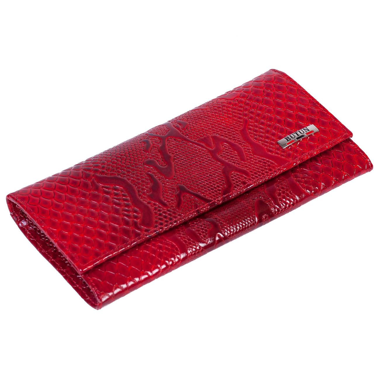 Женский кошелек Butun 567-008-006 кожаный красный