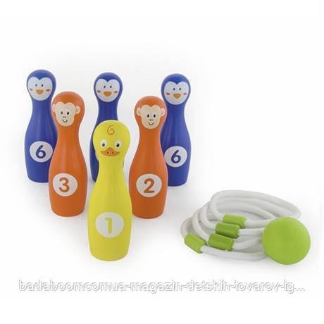 Игра Viga Toys 2-в-1 Боулинг и кольцо (50665)