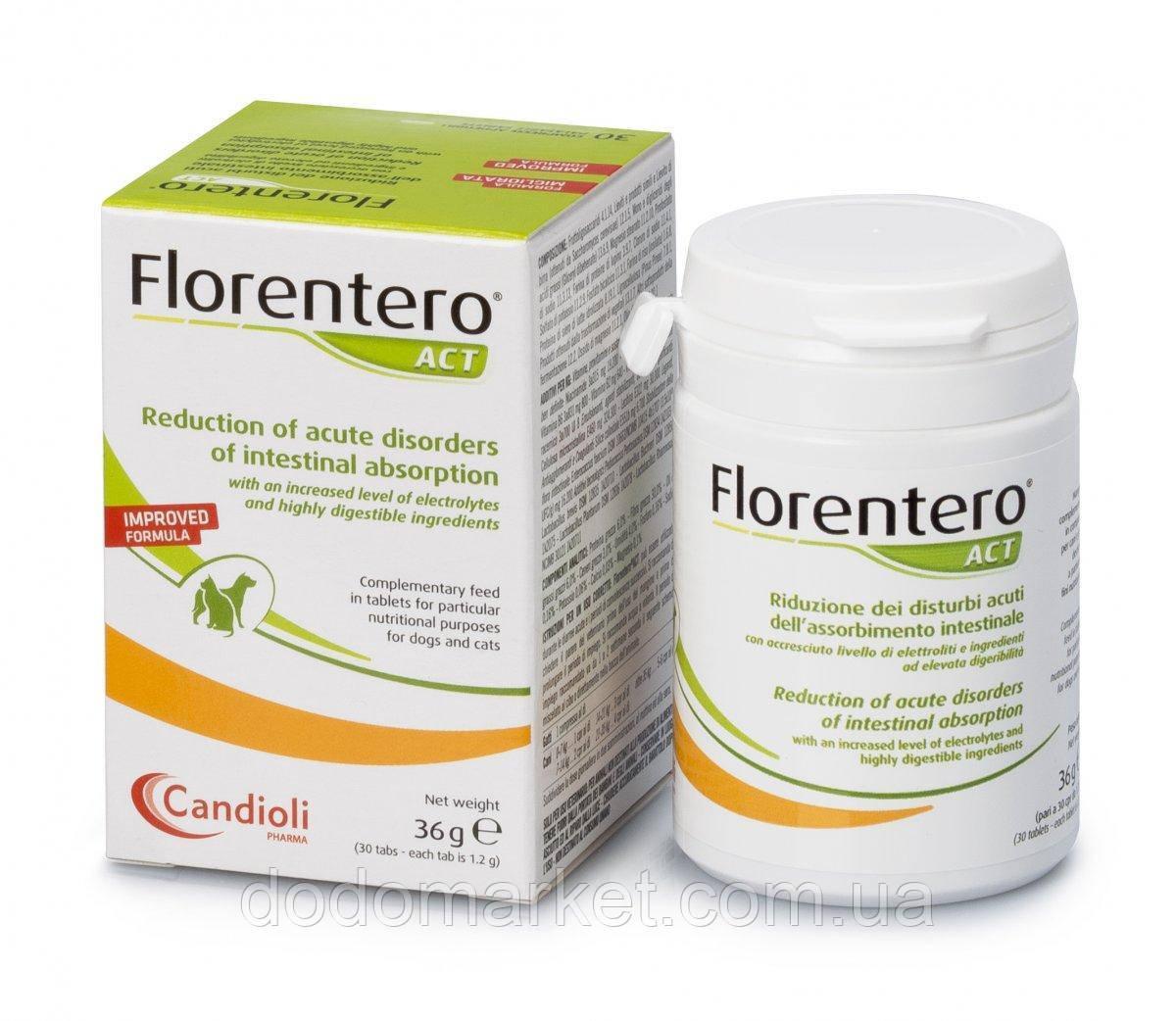 Таблетки Candioli Florentero ACT (30 шт) для нормализации работы желудочно-кишечного тракта животных