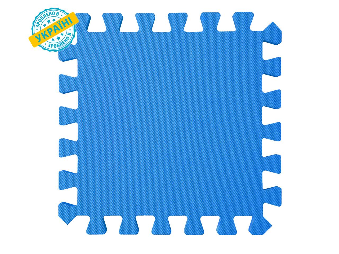 "Мягкий пол (коврик-пазл 30*30*1 см) Eva-Line ""Веселка"" синий"