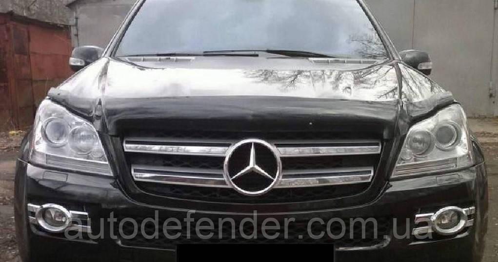 Дефлектор капота (Люкс!) мухобойка Mercedes-Benz X164 GL-Class 2006-2013, SIM, SMERGL0612