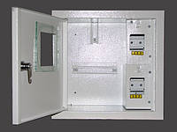 Накладной металический распределителный шкаф на 4 автомата однофазный
